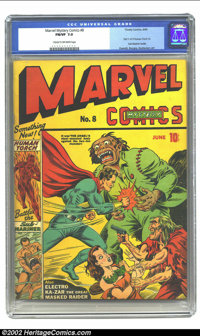 Marvel Mystery Comics #8 (Timely, 1940) CGC FN/VF 7.0 Cream to off-white pages. Alex Schomburg had pretty much taken ove...