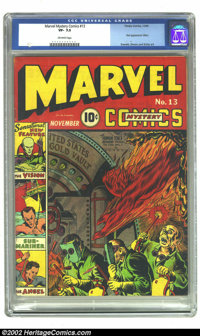 Marvel Mystery Comics #13 (Timely, 1940) CGC VF- 7.5 Off-white pages. This issue is loaded with good stuff, from Alex Sc...