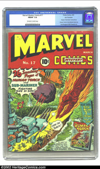 Marvel Mystery Comics #17 San Francisco pedigree (Timely, 1941) CGC FN/VF 7.0 Off-white to white pages. The front cover...
