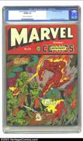 """Golden Age (1938-1955):Superhero, Marvel Mystery Comics #24 (Timely, 1941) CGC VF/NM 9.0 Cream to off-white pages. Is your head spinning with all these """"best ..."""