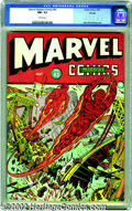 Golden Age (1938-1955):Superhero, Marvel Mystery Comics #43 Chicago pedigree (Timely, 1943) CGC NM- 9.2 White pages. American forces enlist the aid of the Hum...