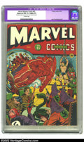 Golden Age (1938-1955):Superhero, Marvel Mystery Comics #45 (Timely, 1943) CGC Apparent NM 9.4 Slight (P) Off-white pages. This is an exceptionally pretty cop...