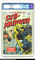 Golden Age (1938-1955):Superhero, Sub-Mariner Comics #40 Double Cover (Timely, 1955) CGC NM 9.4 Cream to off-white pages. Two rarities here: 1) finding a Near...