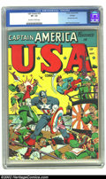 Golden Age (1938-1955):Superhero, U.S.A. Comics #10 Chicago pedigree (Timely, 1943) CGC VF- 7.5 Off-white to white pages. Everything about the dazzling front ...