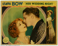 "Movie Posters:Comedy, Her Wedding Night (Paramount, 1930). (3) Lobby Cards (11"" X 14"").Clara Bow became the symbol of the ""Flapper Age"" as a vibr..."