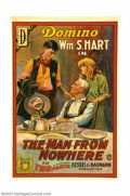 """Movie Posters:Western, Man From Nowhere, The (Mutual, 1915). One Sheet (27"""" X 41"""").William S. Hart was the screen's first major western star. He p..."""