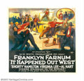 "Movie Posters:Western, It Happened Out West (W.M. Smith Productions, 1923). Six Sheet (81""X 81""). Fine on Linen. ..."