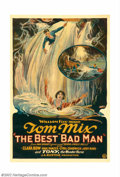 "Movie Posters:Western, Best Bad Man, The (Fox, 1925). One Sheet (27"" X 41""). This early Fox western-romance unites cowboy star Tom Mix, with the ""I..."