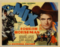"Movie Posters:Western, The Fourth Horseman (Universal, 1932). Title Lobby Card (11"" X 14""). Tom Mix. Very Fine+. ..."