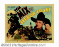 "Movie Posters:Western, Terror Trail (Universal, 1933). Title Card (11"" X 14""). Tom Mix.Very Fine+. ..."