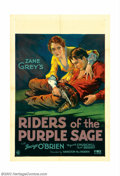 "Movie Posters:Western, Riders of the Purple Sage (Fox, 1931). One Sheet (27"" X 41"").George O'Brien made a smooth transition from silent matinee id..."