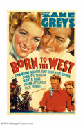"""Movie Posters:Western, Born To the West (Paramount, 1937). One Sheet (27"""" X 41""""). JohnWayne was lent to Paramount to star in this adaptation of th..."""