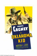 "Movie Posters:Western, Oklahoma Kid, The (Warner Brothers, 1939). One Sheet (27"" X 41"").James Cagney portrays a western desperado who comes to the..."