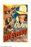 "Movie Posters:Western, Last Stand, The (Universal, 1938). One Sheet (27"" X 41""). Universalstarred Bob Baker in a handful of western features in th..."