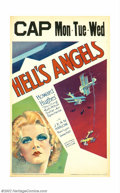 """Movie Posters:War, Hell's Angels (United Artists, 1930). Window Card (14"""" X22"""").Howard Hughes' WWI epic production cost close to threemillion..."""