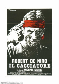 "Deer Hunter, The (Universal, 1978). Italian 2-Fogli (39"" X 55""). Overseas, the Academy Award winning film star..."