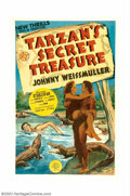 """Movie Posters:Adventure, Tarzan's Secret Treasure (MGM, 1941). One Sheet (27"""" X 41"""").Released in 1941, this was the next-to-last entry in the series..."""
