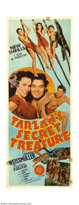 "Movie Posters:Adventure, Tarzan's Secret Treasure (MGM, 1941). Insert (14"" X 36""). Thissurely must be considered to be one of the better format post..."