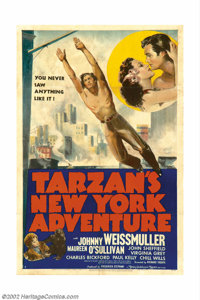 """Tarzan's New York Adventure (MGM, 1942). One Sheet (27"""" X 41""""). Offered here is the poster released for the la..."""