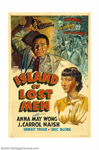 "Island of Lost Men (Paramount, 1939). One Sheet (27"" X 41""). Offered here is an ""other company"" one..."