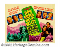 "How Green Was My Valley (20th Century Fox, 1941). Title Lobby Card (11"" X 14""). John Ford's sentimental story..."