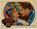 """Movie Posters:Romance, Mata Hari (MGM, 1931). Lobby Card (11"""" X 14""""). Greta Garbo is in her element in this classic tale of the German spy who used..."""