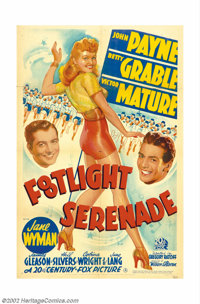 """Footlight Serenade (20th Century Fox, 1942). One Sheet (27"""" X 41""""). Betty Grable was the pin-up girl for all t..."""