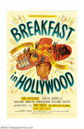 "Movie Posters:Comedy, Breakfast in Hollywood (United Artists, 1946). One Sheet (27"" X41""). Fine/Very Fine. ..."