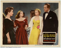 """All About Eve (20th Century Fox, 1950). Lobby Card #3 (11"""" X 14""""). One of the cinema's greatest dramas feature..."""