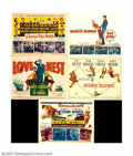 "Movie Posters:Comedy, Marilyn Monroe Title Cards (20th Century Fox, 1951-56). (6) TitleCards (11"" X 14""). This lot includes the following title c..."