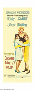 "Movie Posters:Comedy, Some Like It Hot (United Artists, 1959). Insert (14"" X 36""). Votedthe top comedy film of all time by the American Film Inst..."