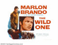 "Movie Posters:Drama, Wild One, The (Columbia, 1953). Half Sheet (22"" X 28""). Marlon Brando was the natural choice to play the renegade leader of ..."