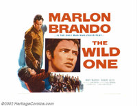 "Wild One, The (Columbia, 1953). Half Sheet (22"" X 28""). Marlon Brando was the natural choice to play the reneg..."