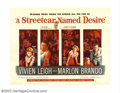 """Movie Posters:Drama, Streetcar Named Desire, A (Warner Brothers, 1951). Half Sheet (22"""" X 28""""). Marlon Brando reprised his Broadway role and gave..."""