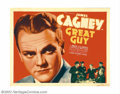 """Movie Posters:Drama, Great Guy (Grand National, 1936).Half Sheet (22"""" X 28""""). James Cagney broke off his contract with Warner Brothers when he be..."""