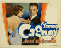 "Movie Posters:Comedy, Hard To Handle (Warner Brothers, 1933). Title Lobby Card (11"" X14""). A James Cagney showcase film made after his success in..."