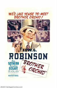 "Brother Orchid (Warner Brothers, 1940). One Sheet (27"" X 41""). Offered here is a poster from one of the films..."