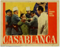 "Movie Posters:Film Noir, Casablanca (Warner Brothers, 1942). Lobby Card (11"" X 14""). MichaelCurtiz's legendary film has been hailed as one of the gr..."