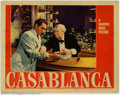 "Movie Posters:Film Noir, Casablanca (Warner Brothers, 1942). (2) Lobby Cards (11"" X 14"").This lot consists of two lobby cards from one of the greate..."