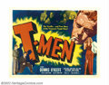 "Movie Posters:Film Noir, T-Men (Reliance Pictures, 1947). Half Sheet (22"" X 28""). AnthonyMann directed this film noir thriller that has gained a cul..."