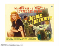 """Double Indemnity (Paramount, 1944). Half Sheet (22"""" X 28""""). Billy Wilder directs from a script co-written by R..."""