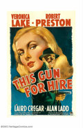 "Movie Posters:Film Noir, This Gun For Hire (Paramount, 1942). One Sheet (27"" X 41""). This movie, the first teaming of perhaps the most famous and end..."