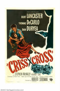 "Movie Posters:Film Noir, Criss Cross (Universal, 1949). One Sheet (27"" X 41""). BurtLancaster stars in this classic film noir as the ex-husband of a..."
