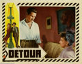 "Movie Posters:Film Noir, Detour (PRC, 1945). (3) Lobby Cards (11"" X 14""). Edgar Ulmer directed this classic in the low budget film-noir genre. Tom Ne..."