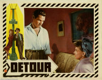 """Detour (PRC, 1945). (3) Lobby Cards (11"""" X 14""""). Edgar Ulmer directed this classic in the low budget film-noir..."""