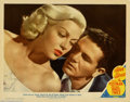 "Movie Posters:Film Noir, Postman Always Rings Twice, The (MGM, 1946). Lobby Card (11"" X14""). Considered by many to be one of the best in the ""Film N..."