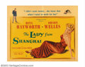 "Movie Posters:Film Noir, Lady From Shanghai (Columbia, 1948). Half Sheet (22"" X 28""). OrsonWelles's Irish brogue narrates a dark and moody tale of t..."