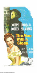 "Movie Posters:Film Noir, Man With A Cloak, The (MGM, 1951). Three Sheet (41"" X 81""). Thisperiod mystery film has been very much underrated and overl..."