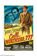 "Movie Posters:Film Noir, Call Northside 777 (20th Century Fox, 1948). One Sheet (27"" X 41"").This is a gripping drama about a reporter (James Stewart..."