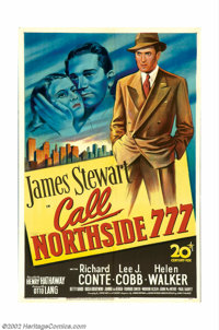"""Call Northside 777 (20th Century Fox, 1948). One Sheet (27"""" X 41""""). This is a gripping drama about a reporter..."""